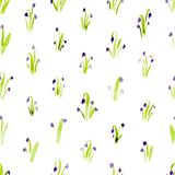 Calico watercolor pattern. Stock Photo