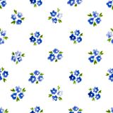 Calico watercolor pattern. Royalty Free Stock Image