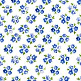 Calico watercolor pattern. Royalty Free Stock Photos