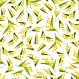 Calico watercolor pattern. Stock Photos