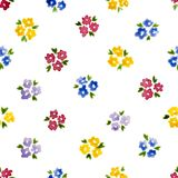 Calico watercolor pattern. Stock Images