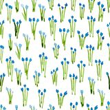 Calico watercolor pattern. Stock Image
