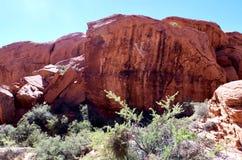 Calicotanks, het Rode Gebied van het Rotsbehoud, Zuidelijk Nevada, de V.S. stock afbeelding