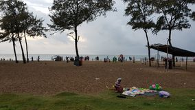Calicut beach. Kozhikode beach sunset Stock Photos