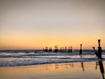 Calicut beach. Sun set in calicut beach Stock Photo