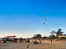 Calicut strand Royaltyfri Bild