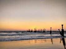 Calicut strand Arkivfoto
