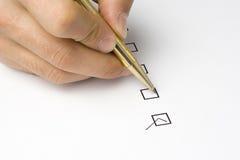 Calidad de servicio del cuestionario de la lista de comprobación Imágenes de archivo libres de regalías