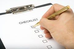 Calidad de servicio del cuestionario de la lista de comprobación Foto de archivo
