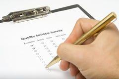 Calidad de servicio del cuestionario de la lista de comprobación Imagenes de archivo