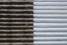Calidad del aire interior, comparación de dos filtros Imágenes de archivo libres de regalías