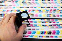 Calidad del color de la hoja de la impresión - menagement del color Fotos de archivo libres de regalías