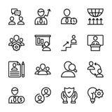 Calidad personal, línea iconos de la gestión del empleado libre illustration