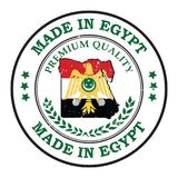 Calidad superior, hecha en Egipto - etiqueta engomada imprimible stock de ilustración