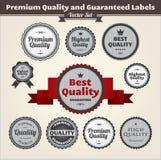 Calidad superior y escrituras de la etiqueta garantizadas Fotos de archivo