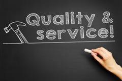 ¡Calidad y servicio! stock de ilustración