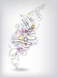 Calienta doodles Imagen de archivo