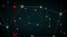 Caliente azul de los puntos de referencias de la red ilustración del vector