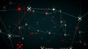 Caliente azul de los puntos de referencias de la red