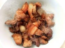 Caliente el cerdo rayado azucarado Imagen de archivo libre de regalías
