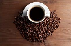 Caliente la taza de ciffee Fotos de archivo libres de regalías