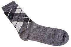 Caliente los calcetines de lana con un modelo de diamantes Imagen de archivo