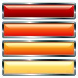 Caliente metálico largo stock de ilustración