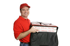 Caliente y fresco entregada pizza Imagen de archivo libre de regalías