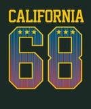Califórnia atlética ilustração stock