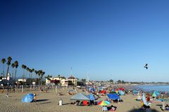 Califórnia: Feriado da praia de Santa Cruz Fotos de Stock