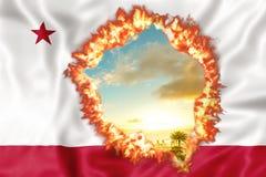Califórnia no fogo foto de stock royalty free