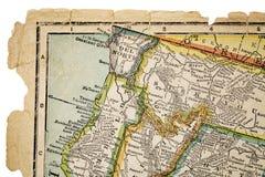 Califórnia norte no mapa do vintage Imagens de Stock Royalty Free