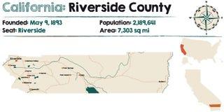 Califórnia - Riverside County ilustração stock