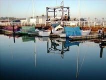 Califórnia Sausalito Marina Reflections imagem de stock