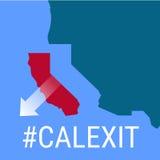 Califórnia a separar-se dos EUA ilustração stock