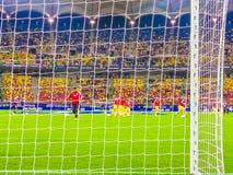 Calificadores europeos del campeonato del fútbol Imagen de archivo libre de regalías