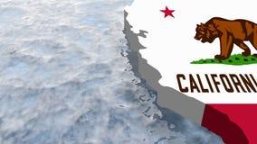 Californië stock illustratie