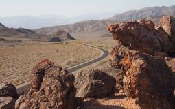 Californië, het Nationale Park van de Doodsvallei, Steenwoestijn op Stock Foto's