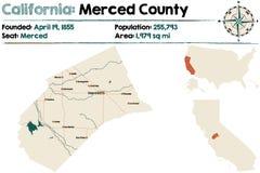 Californië: Mercedprovincie royalty-vrije illustratie