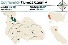 Californië - Plumas-provincie stock illustratie