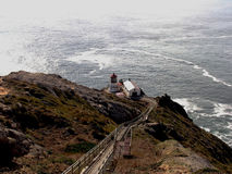 Point Reyes Lighthouse. California's Point Reyes Lighthouse was built in 1870 for mariners at San Francisco Bay Stock Photo