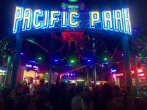 California's Santa Monica Pier Stock Foto's