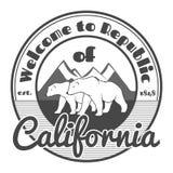 california, котор нужно приветствовать стоковое изображение rf