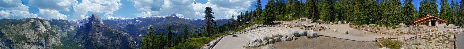 california панорамный yosemite Стоковая Фотография