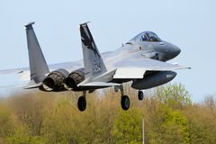 California Air National Guard F-15C Eagle fighter jet airplane stock images