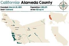 California - Alameda county map Royalty Free Stock Photography