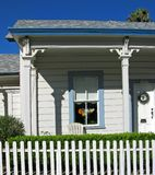 California Americana. Craftsman cottage with picket fence, San Luis Obispo, California Royalty Free Stock Photography