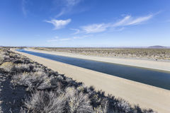California Aqueduct near Los Angeles, California. Royalty Free Stock Photo
