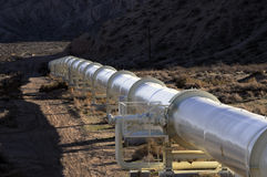 California Aqueduct Pipes in Kern County, California Stock Photo