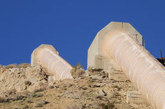 California aqueduct pipes in Kern County, California Stock Photography